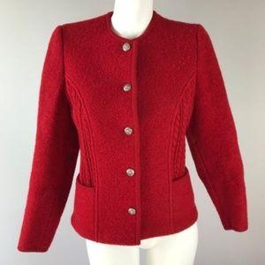 Vintage Brooks Brothers Long Sleeve Red Cardigan 6